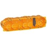 080054 - Монтажная коробка встраиваемая, 4-постовая (1х8/10), 50мм, d=67мм, для сухих перегородок, Legrand Batibox