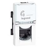 078730 - Розетка телефонная RJ11, 1-модульная, Legrand Mosaic