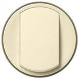 067884 - Лицевая панель одноклавишного выключателя/переключателя с кольцевой подсветкой, Легранд Селиан (слоновая кость)