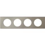 069104 - Рамка 4-постовая Legrand Celiane, прямоугольная, 313х82мм, металл (фактурная сталь)