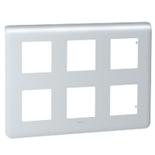 079032 - Рамка Legrand Mosaic, 6-постовая, 12-модульная (алюминий)