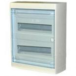 601247 - Щиток распределительный навесной, 2 рейки, 12+1М, Legrand Nedbox (прозрачная дверь)