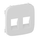 755375 - Лицевая панель для двойной аудиорозетки с пружинными зажимами Legrand Valena Allure (белая)