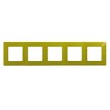 672545 - Рамка 5-ти постовая Legrand Etika (зеленый папоротник)