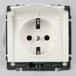 771064 - Розетка электрическая с защитными шторками и крышкой Legrand Galea Life, 16А (белый)