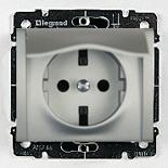 771364 - Розетка электрическая с защитными шторками и крышкой Legrand Galea Life, 16А (алюминий)