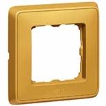 773661 - Одноместная рамка, Legrand Cariva (матовое золото)