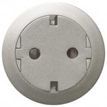 067167 - Механизм розетки электрической с заземлением (2К+З), плоской, с лицевой панелью, безвинтовые зажимы, Legrand Celiane (титан)