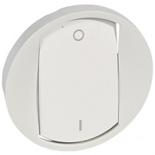068021 - Лицевая панель для выключателя двухполюсного, Legrand Celiane (белая)