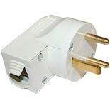 055152 - Вилка силовая 2К+З, 20А, пластик, выход кабеля сбоку, Legrand