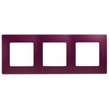 672563 - Рамка 3-х постовая Legrand Etika (сливовый)