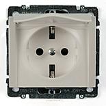 771564 - Розетка электрическая с защитными шторками и крышкой Legrand Galea Life, 16А (жемчуг)