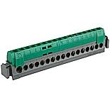 004835 - Клеммная колодка 1х6-25мм²+16х1.5-16мм², Legrand (зеленая)