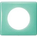 066641 - Рамка однопостовая Legrand Celiane, прямоугольная, 90х82мм (бирюзовый муар)