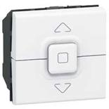 077025 - Выключатель кнопочный для управления приводом жалюзи, Legrand Mosaic (белый)