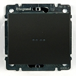 771234 + 775600 - Выключатель одноклавишный с подсветкой Legrand Galea Life, 10А (темная бронза)