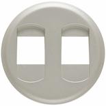 068512 - Лицевая панель для двойной розетки для колонок, Legrand Celiane (титан)