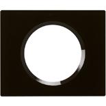 069301 - Рамка однопостовая Legrand Celiane, прямоугольная, 100х82мм, стекло (смальта графит)