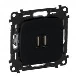 754998 - Розетка USB, зарядное устройство Legrand Valena Allure (Антрацит)