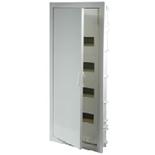 001414 - Щиток встраиваемый, 4 рейки, 48+8М, Legrand Nedbox (белая скругленная дверь)