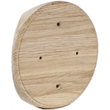 SV1-280-D - Накладка на бревно Ø280мм, для распределительной коробки/светильника с диаметром основания до 120мм, круглая (дуб)