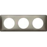 068973 - Рамка 3-постовая Legrand Celiane, прямоугольная, 232х82мм (вольфрам)