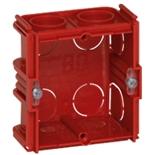 080131 - Монтажная коробка встраиваемая соединяемая, 1-постовая, 30мм, квадратная, для кирпичных стен, Legrand Batibox