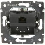 775765 - Механизм розетки компьютерной (интернет, ethernet) - RJ 45, категория 5e, UTP, 1 коннектор, монтаж на захватах, Legrand Galea Life