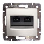 770231 - Розетка двойная Ethernet Rj45, 5e UTP, Легран Валена (алюминий)