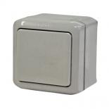 782330 - Выключатель одноклавишный влагозащищенный (IP 44) Legrand Quteo (серый)