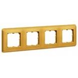 773664 - Четырехместная рамка, Legrand Cariva (матовое золото)