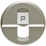 068551 - Лицевая панель для розетки RJ45, Легранд Селиан (титан)