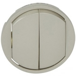 068302 - Лицевая панель для двойного выключателя, Legrand Celiane (титан)