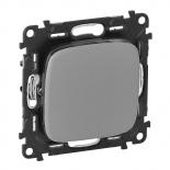 752001 + 755007 - Выключатель простой, автоматические клеммы Legrand Valena Allure (алюминий)