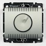 771359 + 775910 - Светорегулятор (диммер) поворотный, 1000 Вт, Legrand Galea Life (алюминий)