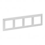 754144 - Рамка четырехпостовая Legrand Valena Life (жемчуг)