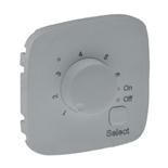 755327 - Лицевая панель для термостата для теплых полов Legrand Valena Allure (алюминий)