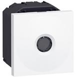 076666 - Выключатель бесконтактный 2-модульный, Legrand Mosaic (белый)