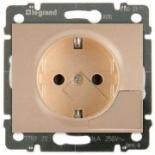 771424 - Розетка электрическая с механизмом выталкивания вилки, Legrand Galea Life, 16А (титан)