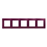 672565 - Рамка 5-ти постовая Legrand Etika (сливовый)