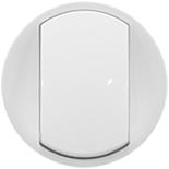 068001 - Лицевая панель для выключателя/переключателя, Легранд Селян (белая)