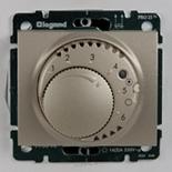 771419 + 775690 - Термостат для управления теплым полом до 16А, с датчиком температуры, Legrand Galea Life (Титан)
