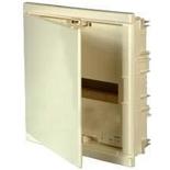 001411 - Щиток встраиваемый, 1 рейка, 12+2М, Legrand Nedbox (белая скругленная дверь)