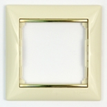 774151 - Рамка 1 пост Legrand Valena (Слоновая кость/золото)