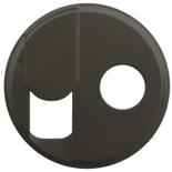 067939 - Лицевая панель для розетки RJ45 + TV (тип F), Легранд Селян (графит)