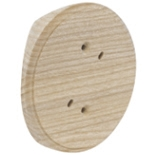 RK1-220-D - Накладка на бревно Ø220мм, для распределительной коробки/светильника с диаметром основания до 90мм, круглая (дуб)