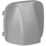 755057 - Лицевая панель для вывода кабеля Legrand Valena Allure (алюминий)