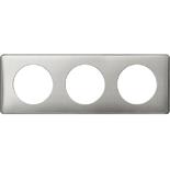 068723 - Рамка 3-постовая Legrand Celiane, прямоугольная, 232х82мм (сильвер пунктум)