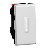 079202 + 067666 - Переключатель 1-модульный на два направления с подсветкой, Legrand Mosaic, 10А (алюминий)