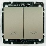 775814 + 771414 - Выключатель кнопочный для управления жалюзи/рольставнями, Legrand Galea Life (титан)